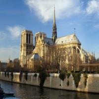 Zijkant van de Notre-Dame