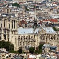 Luchtbeeld van de Notre-Dame