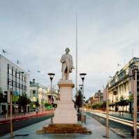 Het standbeeld van Daniel O'Connell op O'Connell Street