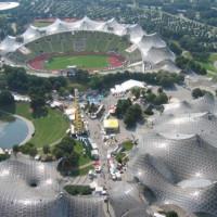 Overzicht op het Olympiapark