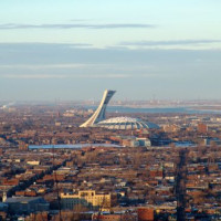 Vergezicht op het Olympisch Stadion