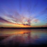 Zonsondergang over het Ontariomeer