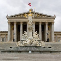 Gevel van het Oostenrijks Parlement