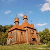 Gebouw in het Openluchtmuseum Pirogovo