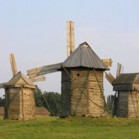 Houten windmolens