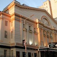Zicht op het Opera House Manchester