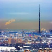 Vergezicht op de Ostankinotoren