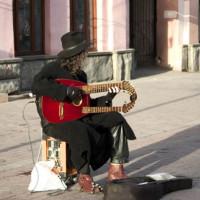 Straatmuzikant in Moskou