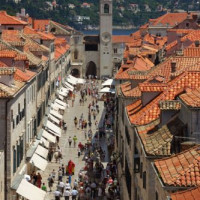 Straatbeeld van de Oude Stad