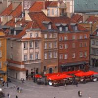Terrassen op het oude stadsplein