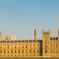 Gevel van de Palace of Westminster