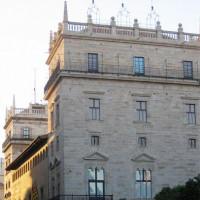 Spaanse vlaggen op het Palacio de la Generalidad