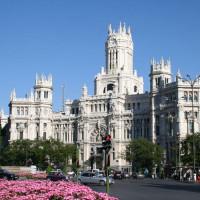 Zicht op het Palacio de Comunicaciones
