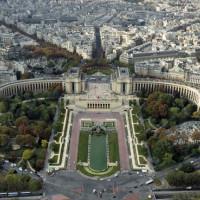 Luchtbeeld op het Palais de Chaillot