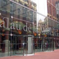 Glazen inkom van het Palau de la Musica Catalana