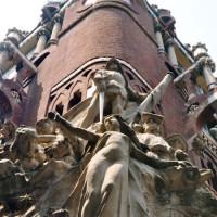 Hoek van het Palau de la Musica Catalana