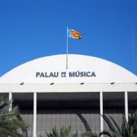 Opschrift op het Palau de la Música