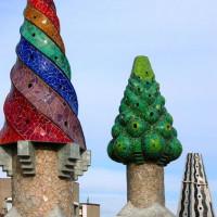 Gaudi vormen op het Palau Güell