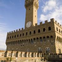 Zicht op het Palazzo Vecchio
