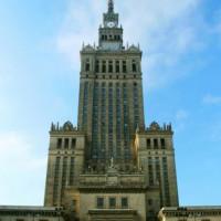 Het cultuur- en wetenschapspaleis van Warschau