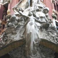 Detail van het Palau de la Musica Catalana