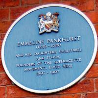 Naambord van Emmelin Pankhurst