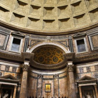 Binnen in het Pantheon