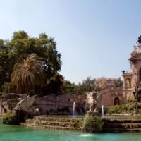 Vijver in het Parc de la Ciutadella