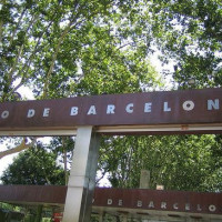 Naambord van de Zoo de Barcelona