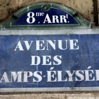 Naambord van Champs-Elysées