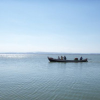 Bootje op een meer