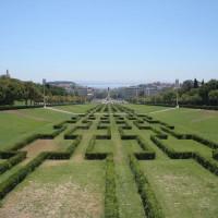 Heggen in het Parque Eduardo VII