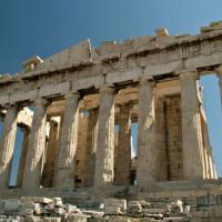 Parthenon bij valavond
