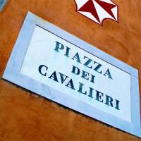 Naambord van het Piazza dei Cavalieri