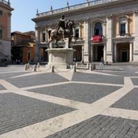 Zicht op het Piazza del Campidoglio