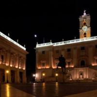 Nacht op het Piazza del Campidoglio