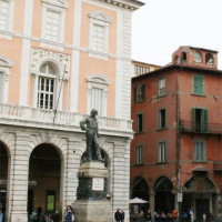 Zicht op het Piazza Garibaldi