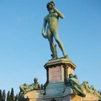 Bronzen David beeld
