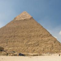 Totaalbeeld van de Piramide van Chefren