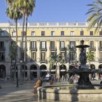 Fontein op Plaça Reial