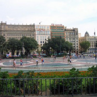 Vergezicht op het Plaça de Catalunya