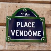 Bordje van de Place Vendôme