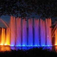 Gekleurde fonteinen