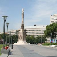 Zuil op de Plaza de Colón