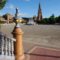 Overzicht op het Plaza de España