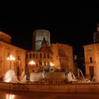 Fontein op de Plaza de la Virgen