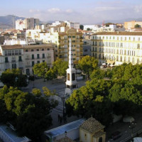 Luchtbeeld op de Plaza de la Merced