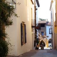 Straatbeeld in Poble Espanyol