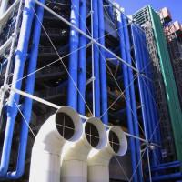 Gevel van het Centre Pompidou