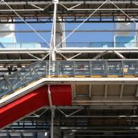 Trap aan het Centre Pompidou